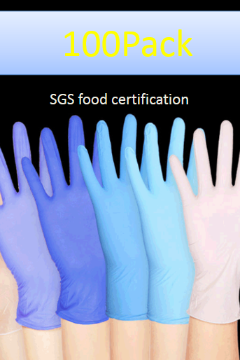 Disposable gloves food catering housework thickened labor protection 100 insulated rubber latex nitrile gloves