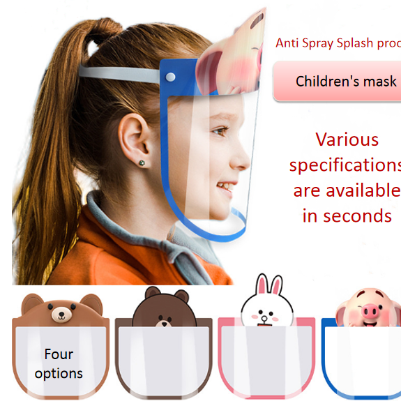 (10pcs/pack) Children's protective mask spray proof dust proof water proof anti epidemic oil smoke mask high definition face screen