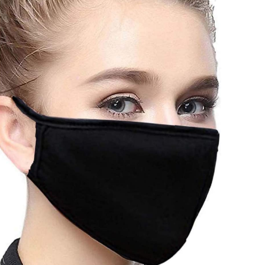 Fashion Scarf mask black for men and women (5pcs/pack)